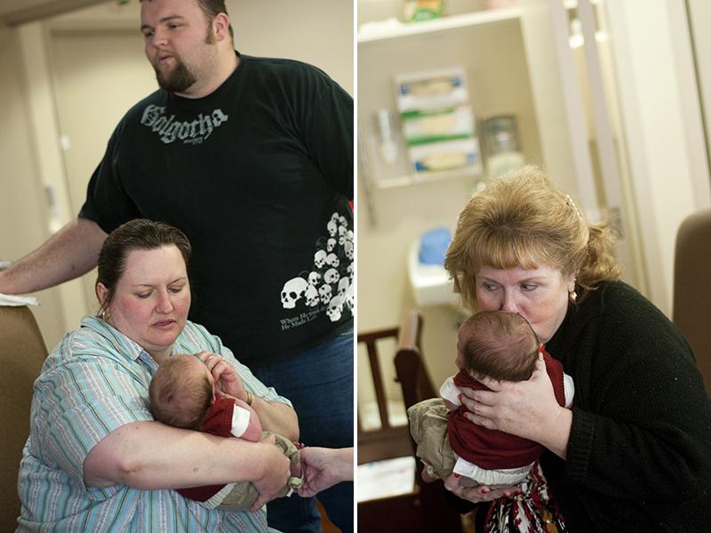 grandparents meeting newborn baby
