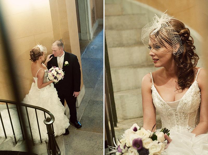 bride at old dayton courthouse