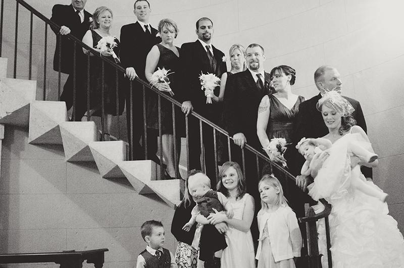 funny bridal party portrait