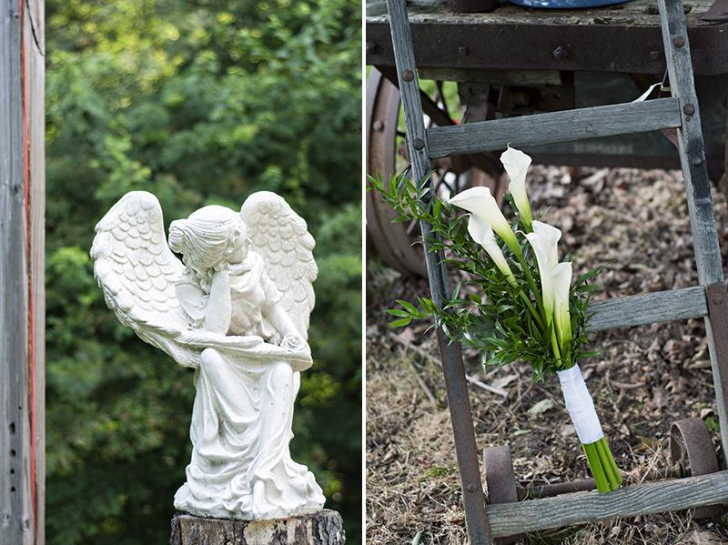 wedding photography at the secret garden in waynesville