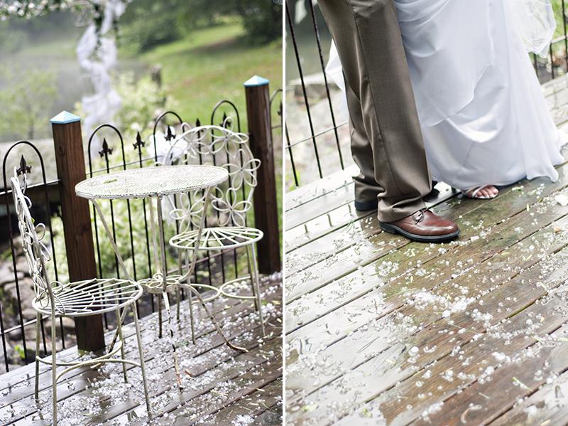 wedding day hail