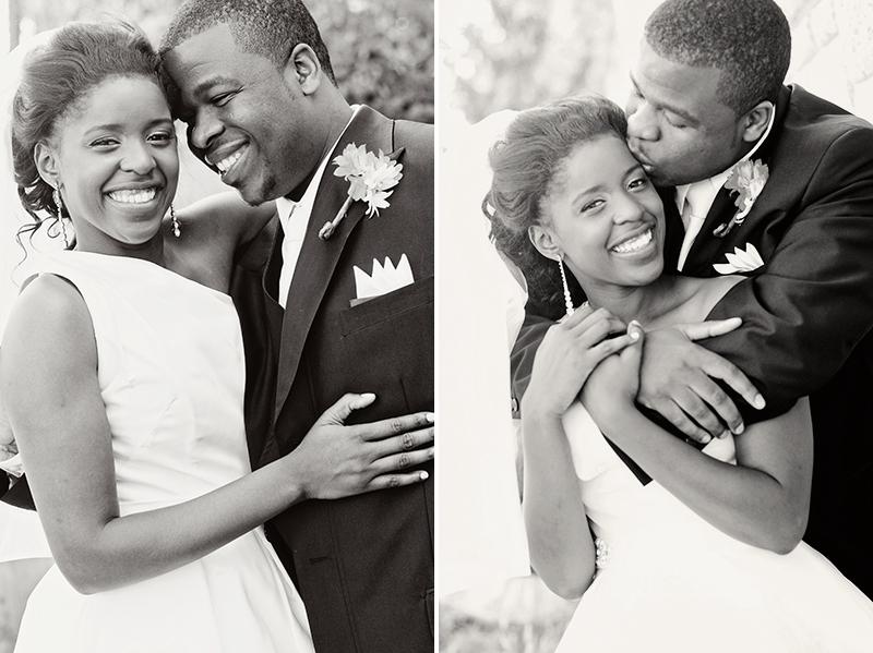 black and white dayton bridal portait