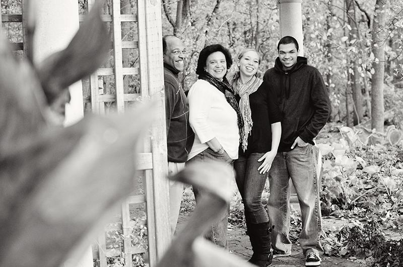 dayton black and white family portraits