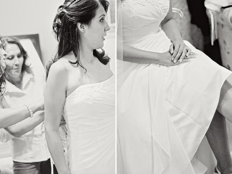 dayton bride getting ready