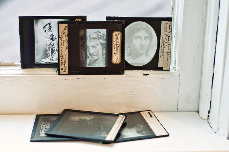 vintage glass slides