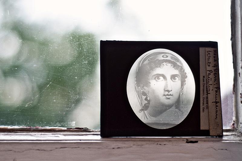 vintage glass art history slide