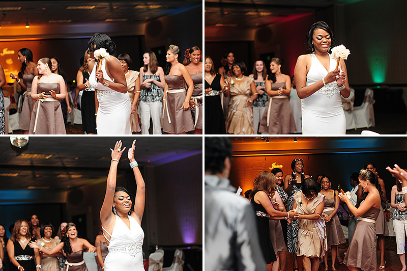 dayton marriott wedding bouquet toss