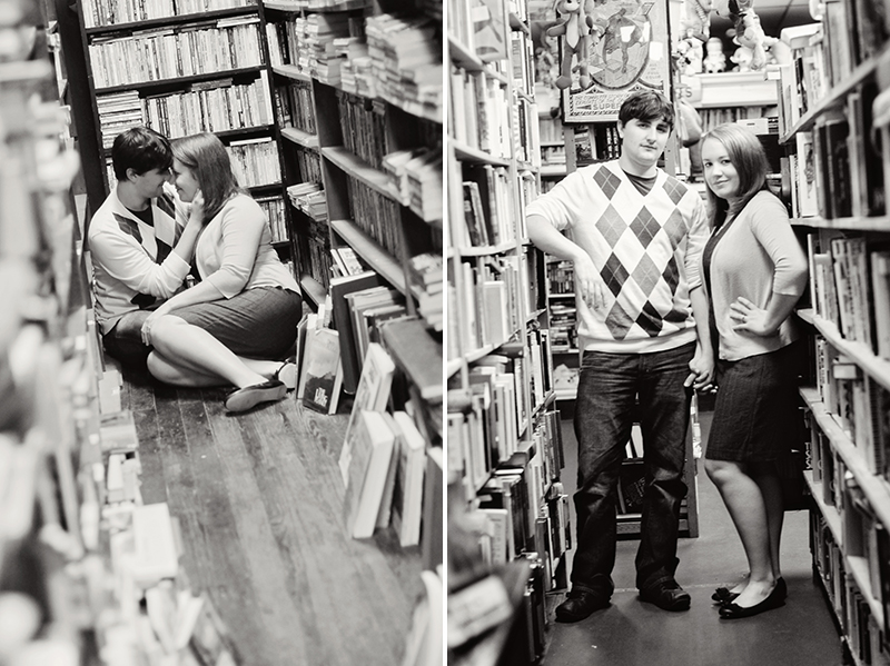 engagement photography bookstore