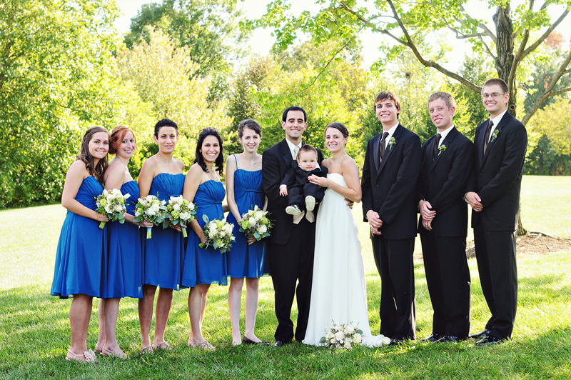 bridal party at cox arboretum